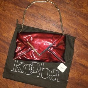 Kooba Bailey Red Patent Leather Shoulder Bag